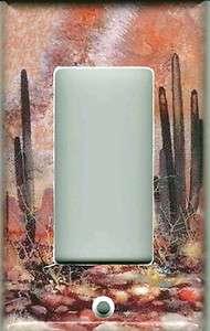 SOUTHWEST DESERT ROCKER GFI LIGHT SWITCH PLATE COVER