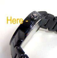 Juicy Couture Black BFF Plastic Bracelet Watch 1900646 NWT $195 FLAW
