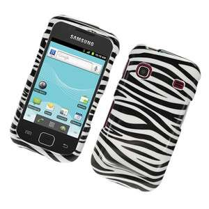 For Samsung Repp/SCH R680 Hard GLOSSY Snap on Cover Case Zebra Black