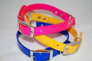Lot 12 Poly Nylon Dayglo Hunting Dog Collars With Tags