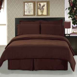 Brown 8 Piece Bedding Set on SALE Sheets+Pillow Cases+Duvet+Shams and