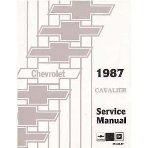 1987 CHEVROLET CAVALIER Shop Service Repair Manual Book