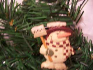 Blossom Bucket Resin Winter Snow Shovel Snowman Christmas Tree