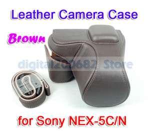New brown Leather Camera Case Pouch Cover f SONY NEX 5C NEX 5N NEX5 18