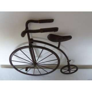 Iron scrolled oblong metal wall hanging medallion 32 5 - Wrought iron bicycle wall art ...