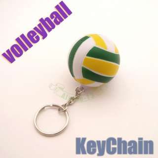 Fashion Sports Christmas Gift ornaments Volleyball Charm KeyChain Ring