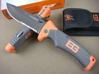 Gerber Bear Grylls Saber Lockback Ultimate Tactical Survival Folding