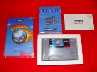 BOX Pinball Dreams Game for Super NES Nintendo SNES Complete CIB MINT