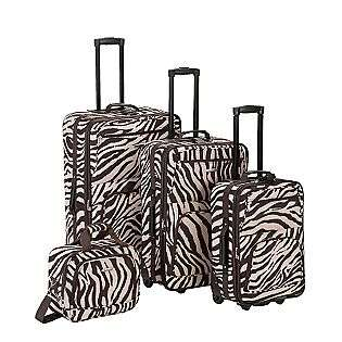 4PC BROWN ZEBRA LUGGAGE SET  Rockland Fox Luggage For the Home Luggage
