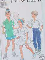 PATTERN   KIDS BOYS/GIRLS TENNIS OUTFITS   SZ. 9 14