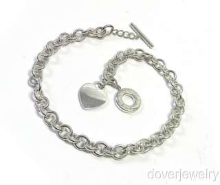 Tiffany & Co. Sterling Silver Heart Charm Chain Link Necklace NR