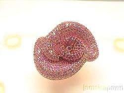 ANTIQUE ROSE GOLD PINK Ruby RING VINTAGE BAND FLOWER BAND 3 RING set