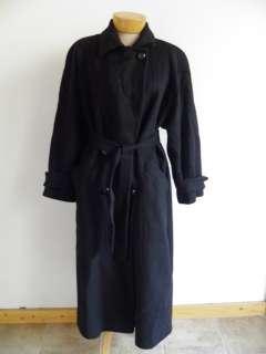 Fluerette Black Camel Full Length TRENCH Coat M