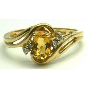 .70pts Captivating Citrine Diamond & Gold Ring Everything
