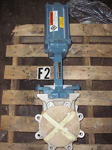 Sartell 6 Stainless Steel Flanged Knife/Gate Valve w/ Pneumatic