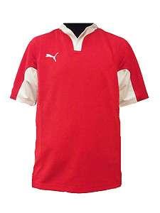 Puma V Kon Rugby Shirt New Mens Red/White Superb