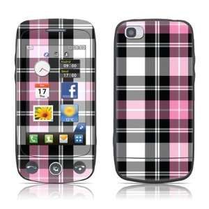 Pink Plaid Design Protective Skin Decal Sticker for LG Cookie