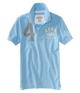 Aeropostale mens solid embellished polo shirt