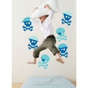 Forwalls Blue Pirates Removable Wall Decals Baby