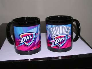 OKLAHOMA CITY THUNDER NBA BLACK COFFEE MUG 11 OZ.