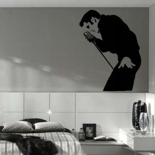 ELVIS PRESLEY LARGE BEDROOM WALL MURAL ART STICKER STENCIL DECAL MATT