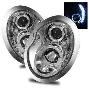 02 06 Mini Cooper Chrome LED Halo Projector Headlights /w