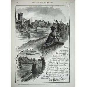 1890 Advertisement Beechams Pills River Church Print
