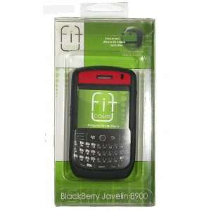 Blackberry Javelin 8900 Black and Red Soft Silicone Case Cover