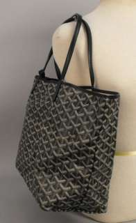 is for an authentic Goyard Black Coated Canvas St. Louis PM Tote Bag