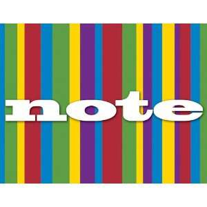 Note Cards   Rainbow Stripes Pattern   Boxed Set of 8