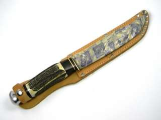 vintage handmade Jim Bowie hunting knife from a private collection