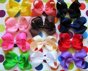 10 PCS NEW HANDMADE BABY HAIR BOUTIQUE HAIR BOWS CLIPS 3 USA