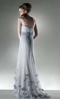 Charming gray Bridal Wedding Dress gown Size custom