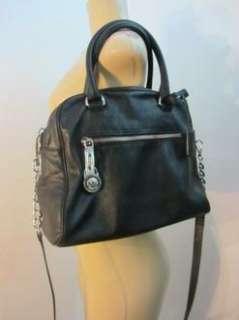MICHAEL Michael Kors Knox   Large black leather Satchel BAG