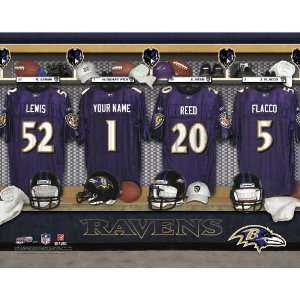 Personalized Baltimore Ravens Locker Room Print Sports