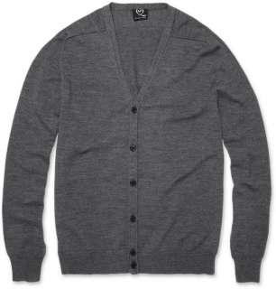 Clothing  Knitwear  Cardigans  Raw Seam Wool Cardigan