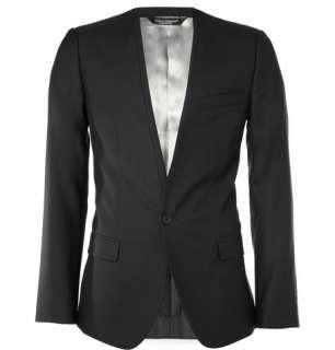 Blazers  Single breasted  Sicilia Collarless Wool Blend Blazer