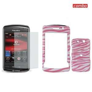BlackBerry Storm2 9550 Combo Pink/White Zebra Design