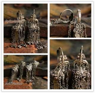ETHNIC JEWELRY TRIBAL MIAO HANDMADE EARRINGS / JE215