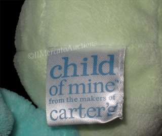 CARTERS Child of Mine Plush GREEN FROG Lovey BABY TOY