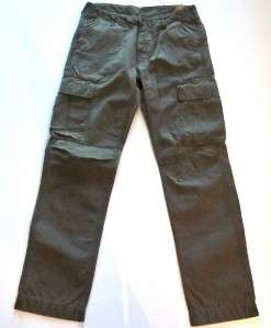 LEVIS Vintage Collection LVC green military cargo pants 34 X 34 NWT
