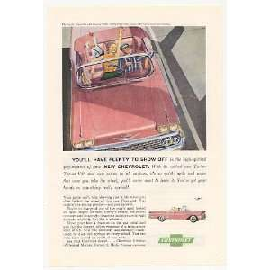 1958 Pink Chevrolet Chevy Impala Convertible Print Ad