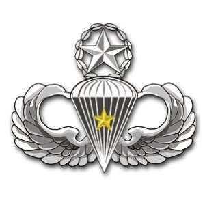 US Army Master 5 Combat Jump Wings Decal Sticker 5.5