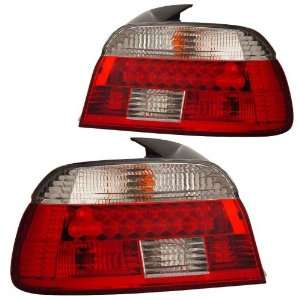 2001 2003 BMW E39 5 Series KS LED Red/Clear Tail Lights