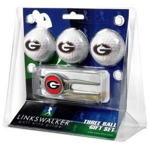 Georgia Bulldogs NCAA 3 Ball Gift Pack w/ Kool Tool