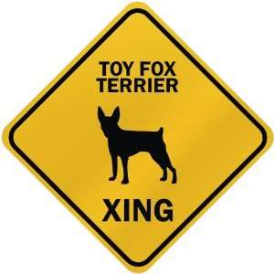ONLY  TOY FOX TERRIER XING  CROSSING SIGN DOG