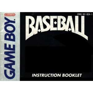 Baseball GB Instruction Booklet (Game Boy Manual Only   NO