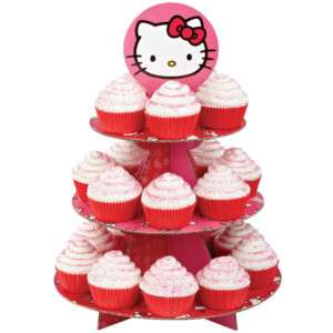 USA ★ HELLO KITTY Party MUFFIN STAND für 24 Muffins