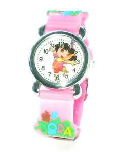 PINK 3D Dora the Explorer Children Quartz WRIST WATCH