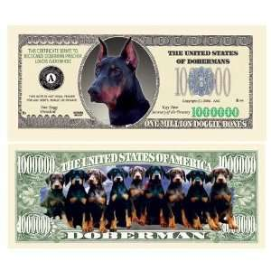 Doberman Pinscher Million Dollar Bill Case Pack 100: Toys & Games
